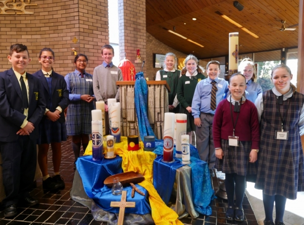 Diocese's Year 6 students delight in Masses with the Bishop