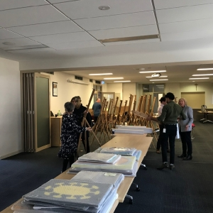 180919 Christmas Story Art Exhibition Set Up 1