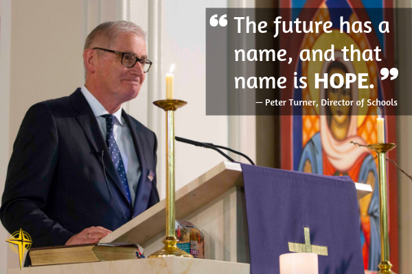 """The future has a name, and that name is HOPE"": hundreds of CEDoW staff gather to celebrate Diocesan Education Mass"