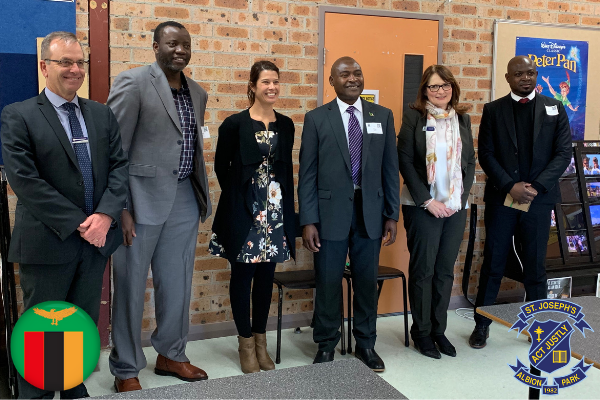 Zambian High Commissioner admires innovation at St Joseph's Albion Park visit