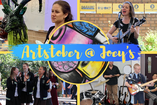 Art-standing ARTSTOBER celebrations at St Joseph's Albion Park