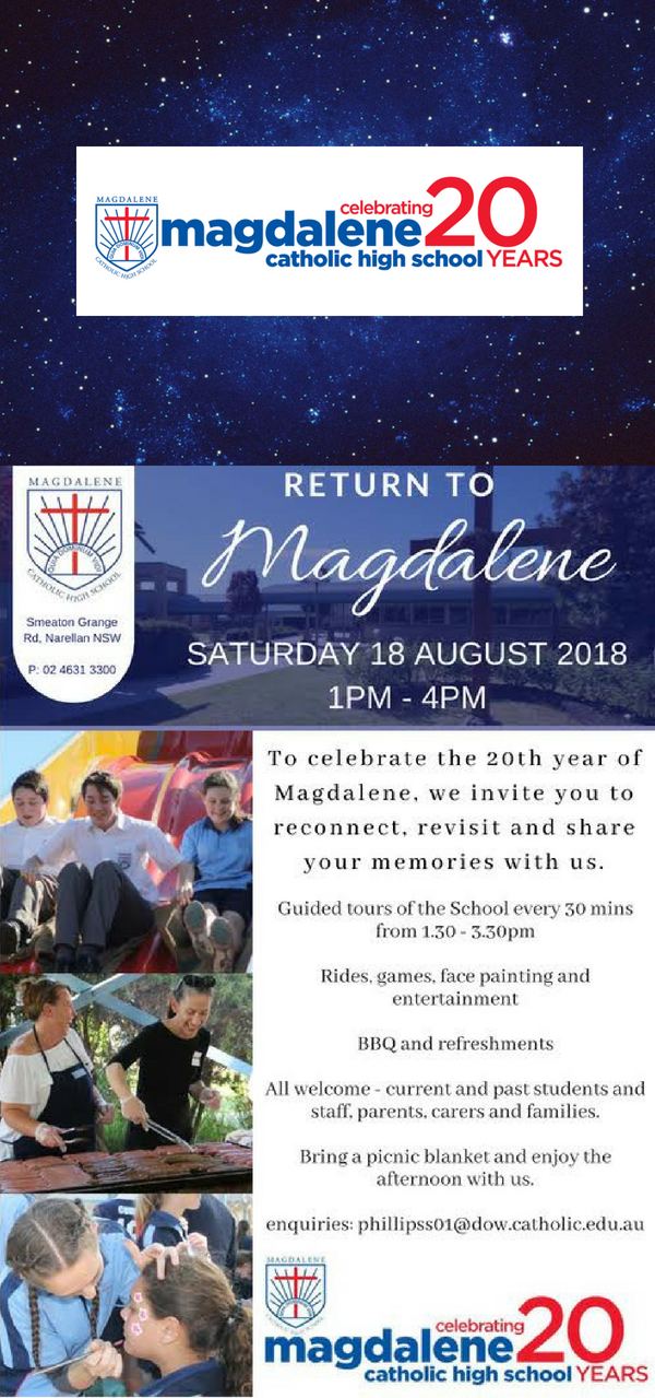 You're invited to celebrate Magdalene's 20 year anniversary