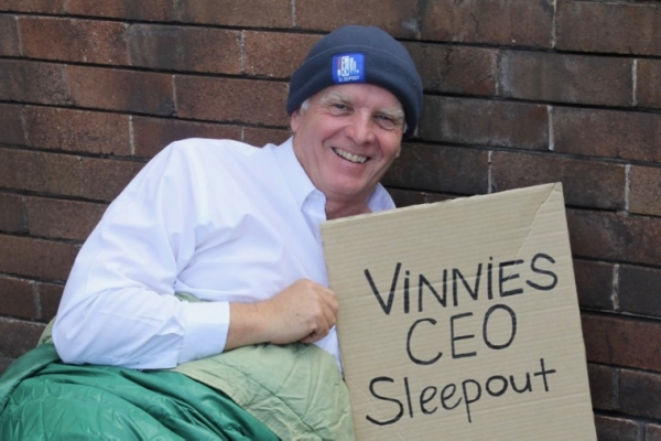 Feature Photo Wollongong Vinnies CEO Sleepout