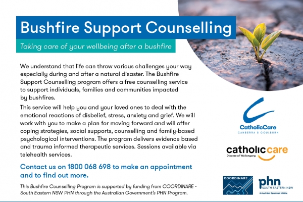 CatholicCare Bushfire Support newsletter ad