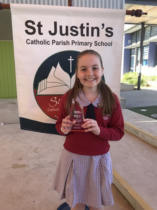 St Justin's Oran Park student recognised with Young Journalist Award