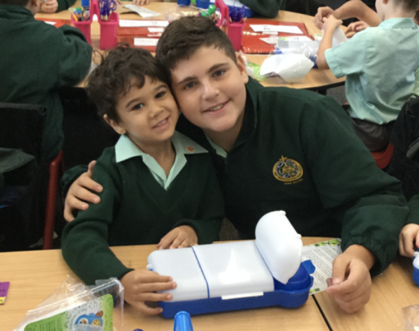 Mary Immaculate Eagle Vale students celebrate going waste-free, gifted with new lunchboxes