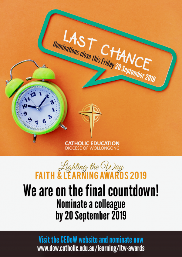 Nominations for the Lighting the Way Faith & Learning Awards close this week!