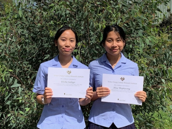 Female Catholic School Students Honoured with Prestigious Science Award