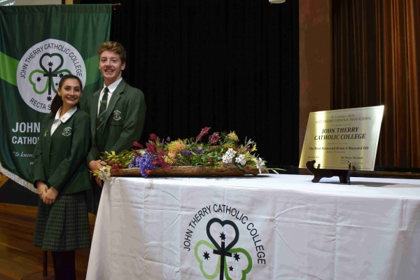 Year 12 students celebrate historic name change at John Therry Catholic College