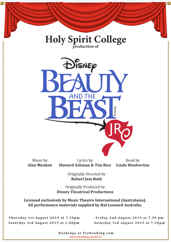 Holy Spirit invites you to 'be their guest!' for school production of 'Beauty and the Beast'