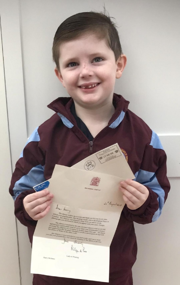 Ss Peter and Paul student receives letter from the Queen