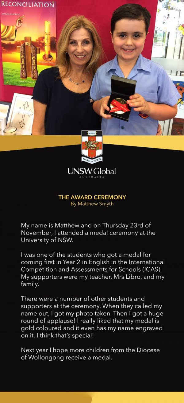 Little Matthew Takes Out First Prize in Global ICAS English