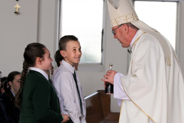 Together As One: Year 6 Students Gather to Celebrate an Education Milestone with Bishop Brian Mascord